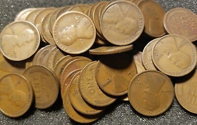 1916 D Roll of 50 Lincoln Wheat Cents Better Date Penny Roll
