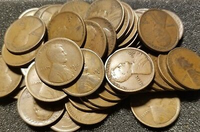 1916 S Roll of 50 Lincoln Wheat Cents Better Date Penny Roll