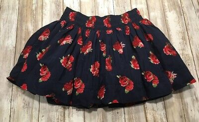 Abercrombie and Fitch Girl's Skirt Mini Navy Floral Size XL NWT ~ Very Pretty