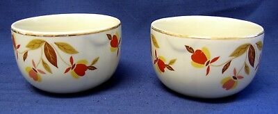 Hall's Superior / Jewel - Autumn Leaf - Mary Dunbar - Custard Bowls - Set of 2
