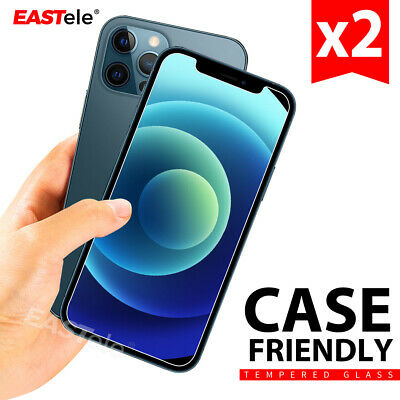 2x  EASTele Tempered Glass Screen Protector Apple iPhone 11 Pro XS Max XR 8 Plus