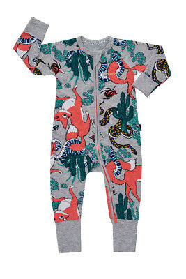 Bonds Baby Long Sleeve Zip Wondersuit Romper sizes  00 0 1 2 3 Mr Fox