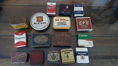 Old tobacco tins and packets