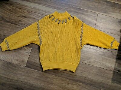 Beautiful Vintage DIOR sweater jumper DESIGNER YELLOW SIZE SMALL