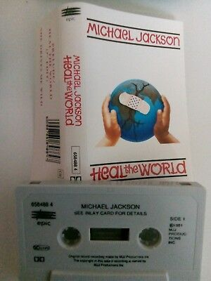 Michael Jackson - Heal The World - MC - Musikkassette - Tape - Cassette - Single