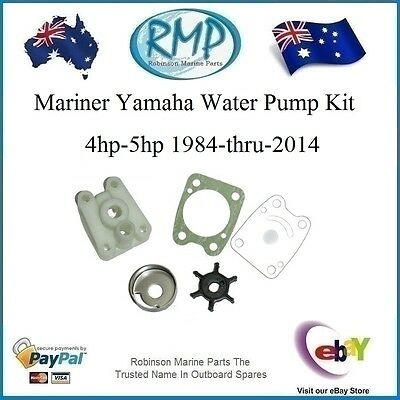 A Brand New Water Pump Kit Mariner / Yamaha 4hp-5hp 1984-thru-2014 # R 6E0-Kit
