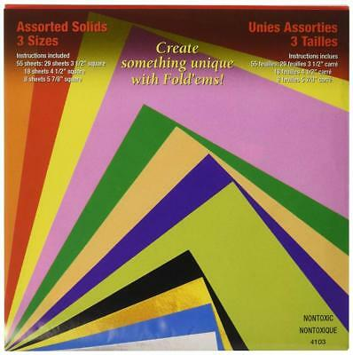 Yasutomo 4103 4103 Craft Supplies Fold Ems Origami Paper 55/Package-Assorted...