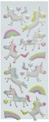 Puffy Classic Stickers-Unicorns