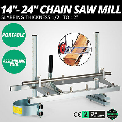 """14"""" - 24"""" Chain Saw Mill Planking Lumber Cutting Aluminum Builders Efficient"""