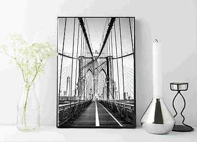 new York Manhattan bridge photography black and white print