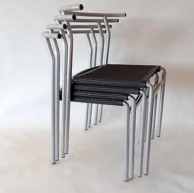 Philippe Starck for Cerruti Baleri Italia PS 210 stackable café chairs Excellent