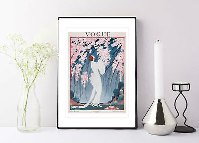 VOGUE BLOSSOM COVER: Vintage Magazine Art Print