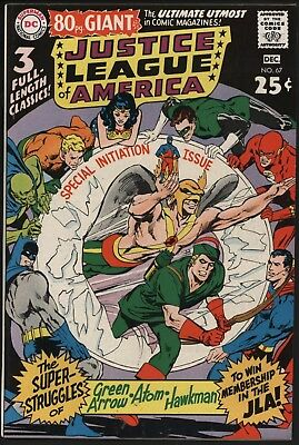 Justice League Of America 67 Nice Hi-Grade Classic 80 Pg Giant Neal Adams Cover