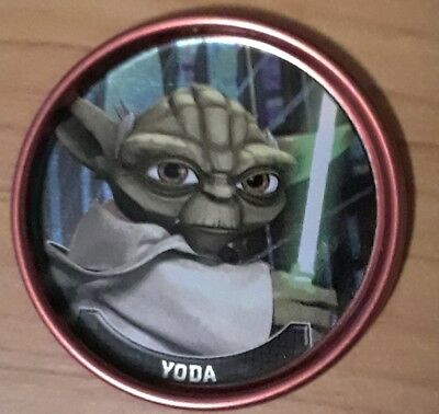 2008 Star Wars Clone Wars Yoda RED COIN #5 of 12 TARGET EXCLUSIVE Rare!