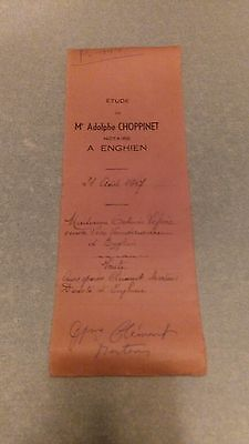 7850 Enghien 1947 document notaire Mme Adolphe Choppinet