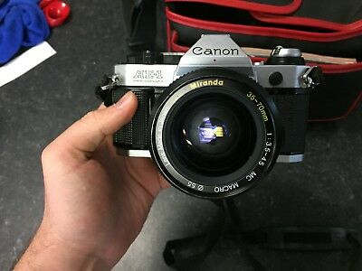 Canon AE-1 Program 35mm Film Camera With Extras