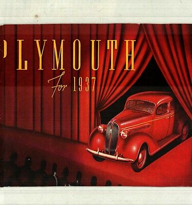 1937 Plymouth Deluxe Color Sales Catalog