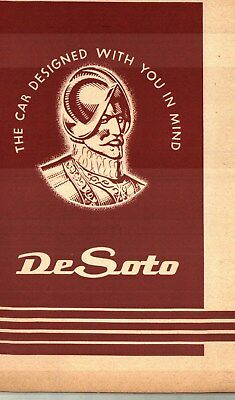1952 De Soto Owner's Manual - Nos  New Old Stock