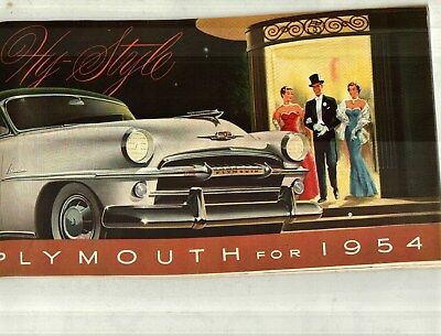 1954 Plymouth Belvedere, Savoy, Plaza Deluxe Color Sales Catalog