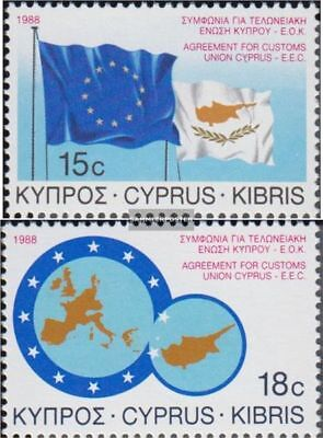 Cyprus 693-694 (complete issue) unmounted mint / never hinged 1988 customs agree