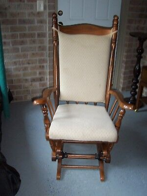 Nice Wooden GLIDER / ROCKING Chair