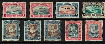 British Guiana stamps - 1897s - pictorials better noted used/mint cancels/shades