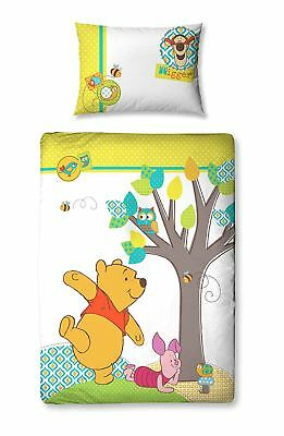 Disney Winnie the Pooh Bear Piglet Junior Bed Cot Duvet Cover Christopher Robin