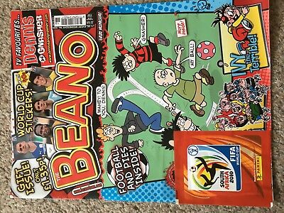 Beano Comic Magazine With Free Toy On Front Unused Original 2010 World Cup