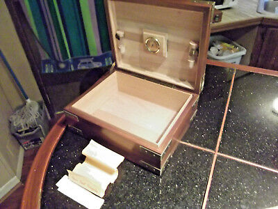 Vintage Alfred Dunhill Wood Humidor Cigar Box Nice Condition!