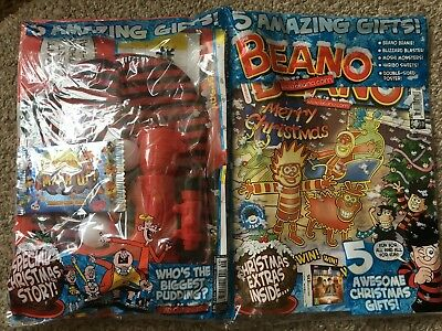 Beano Comic Magazine With Free Toy On Front Unused Original Bumper Christmas
