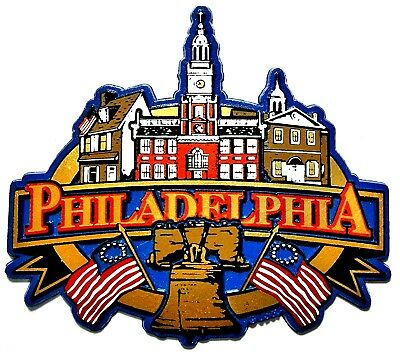 Philadelphia Pennsylvania Skyline Fridge Magnet