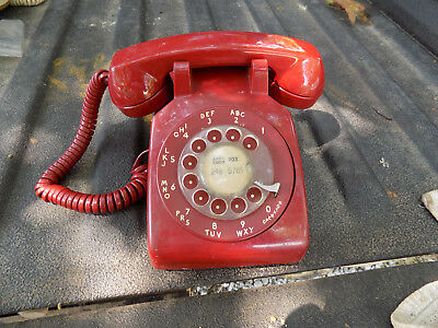 Western Electric Bell System  Telephone  Rotary Desk Telephone Red Works