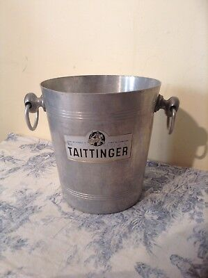 Vintage French Taittinger Champagne Ice Bucket (1727)