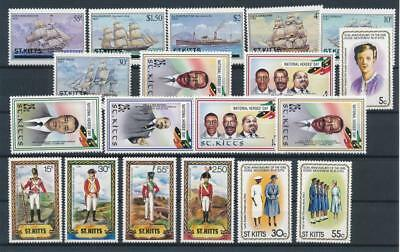 [G77172] St. Kitts good lot Very Fine MNH stamps