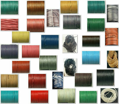 Flat Round Leather cord lace for crafting & shoes/Deck/Boot laces cut to length
