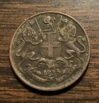 1835 East India Company One Quarter Anna coin