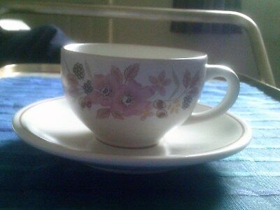Boots Hedge Rose Pattern Ironstone 3 Cups And 3 Saucers - 6 Items In Total