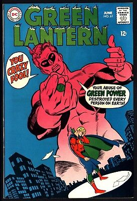 Green Lantern 61 Lovely Sharp Cents Copy Great Cover White Pages From 1968