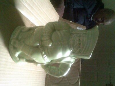 Old King Toby Character Pottery Jug  In Green