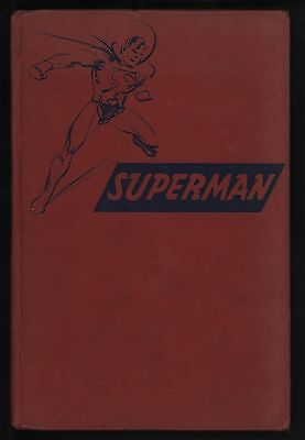 SUPERMAN NOVEL 1st PRINTING 1942 GEORGE LOWTHER - GREAT COLOUR ILLUSTRATIONS!