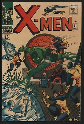 X-Men #21  Very Nice Vf Glossy Cents Copy + White Pages Vs Dominus!