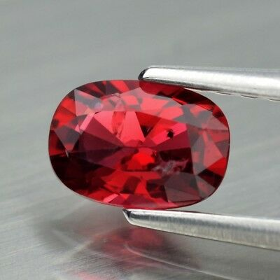 0.54ct 6x4mm Oval Natural Pinkish Red Spinel, M'GOK