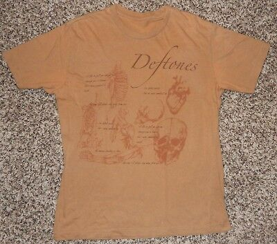 "DEFTONES ""Mein"" Lyrics Design Concert T-Shirt Sz M RARE Team Sleep Tool Metal"