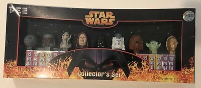 Star Wars  Pez Collectors Set  9 Characters BNIB Sealed!