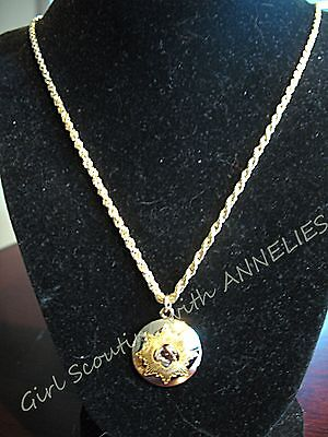 NECKLACE Girl Scout Lovely GIFT, GOLD AWARD, Boston Twist Chain NEW in BOX