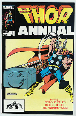 Thor Annual #11 9.2 1St App Of Eitri Origin Of Thor Expanded 1983 Ow Pages