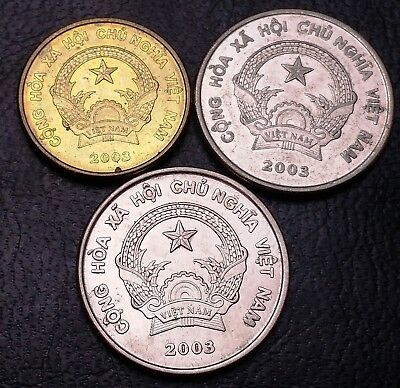 Lot of 3x Vietnam Coins - 2003 500 & 1000 Dong ***Great Condition***