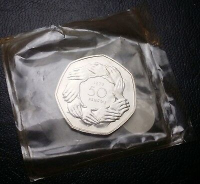 1973 Great Britain 50 Pence PL Coin ***Sealed*** Proof-Like