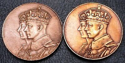Lot of 2x 1939 Royal Visit to Canada Medals - Great Condition