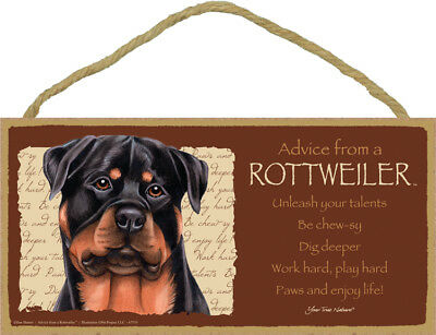 ADVICE FROM A ROTTWEILER wood SIGN wall hanging NOVELTY PLAQUE puppy dog USA NEW